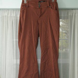 22W Torrid rust color flare jeans
